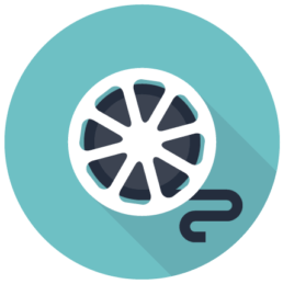 film-reel-2d-flat-graphic